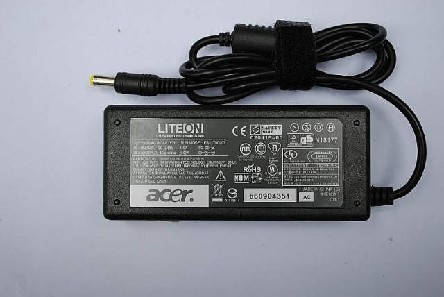 65W Acer aspire 5112 AS5112WLMi Series AC Adapter 19V 3.42A