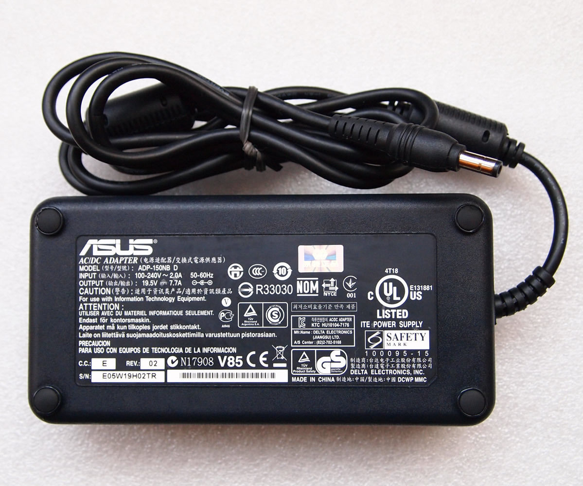 19.5V 7.7A ASUS G74SX-1ATY G74SX-1ATZ AC Power Adapter Charger